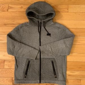 A&F Men's Hooded Zip Up Sweater